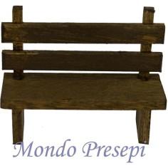 Panchina in legno 7,5 cm Mondo Presepi
