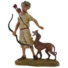 Archer with dog 10 cm Fontanini