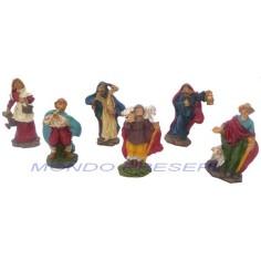 Mondo Presepi Cm 6 Set 6 pastori in resina