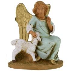 Angelo seduto con pecora serie 12 cm Fontanini Mondo Presepi
