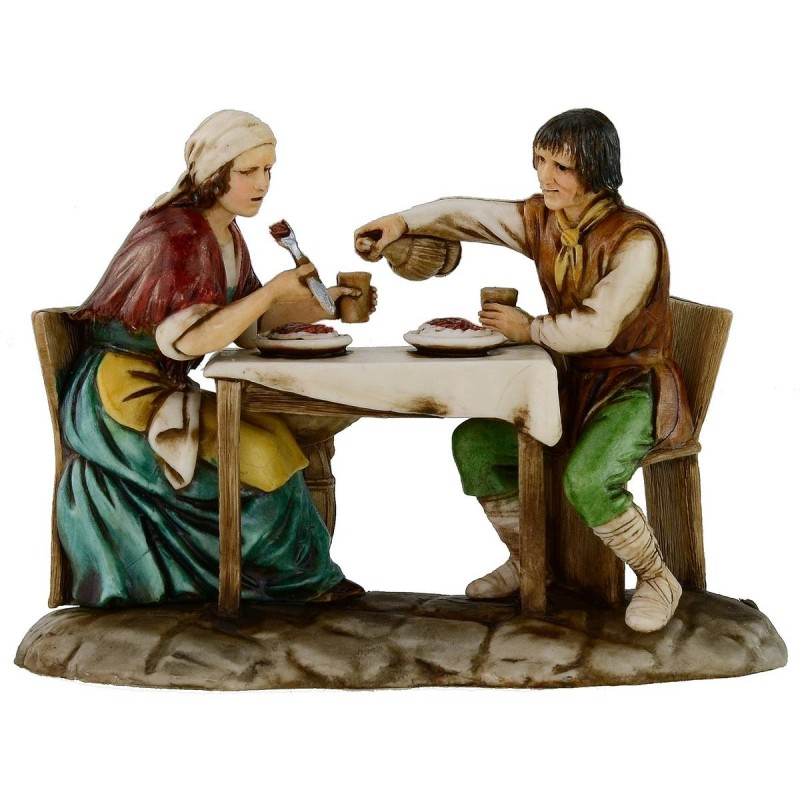 Man and woman at the table 10 cm