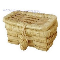 Openable wicker chest cm 4