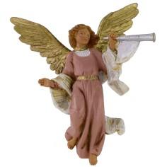 Angelo rosa con tromba 12 cm Fontanini Mondo Presepi