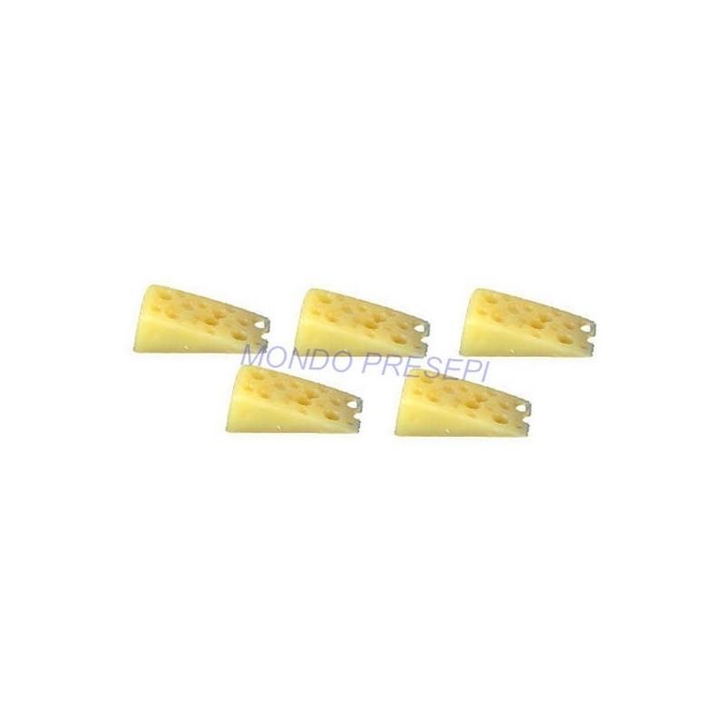 Mondo Presepi Set 5 fette di formaggio