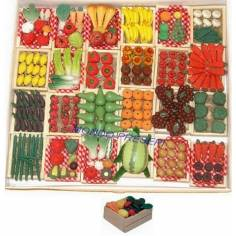 Mondo Presepi Cassetta Frutta e verdura cm 4,5X3,5X1,5 - T5403