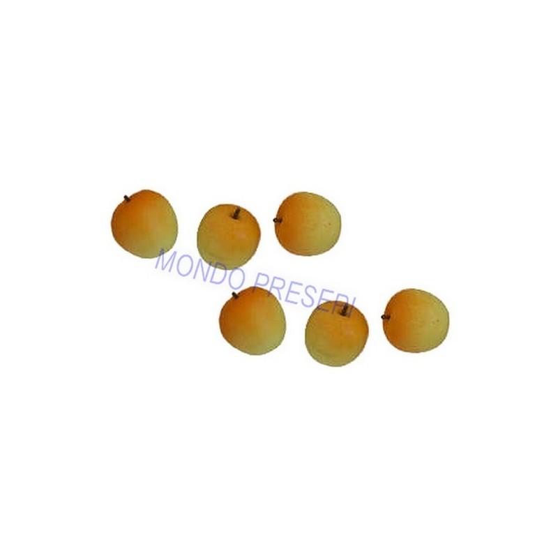 Set of 6 yellow-orange apples