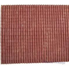 Roof panel in red rigid pvc 34x24.5 cm