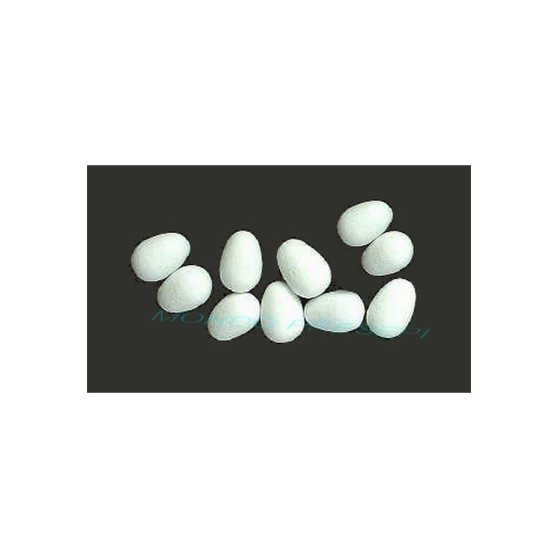 Set of 10 eggs 4x6 mm