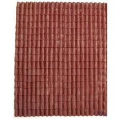 Roof panel in red rigid pvc 17x25 cm