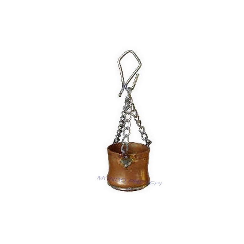 Pot 2 cm in copper with chain