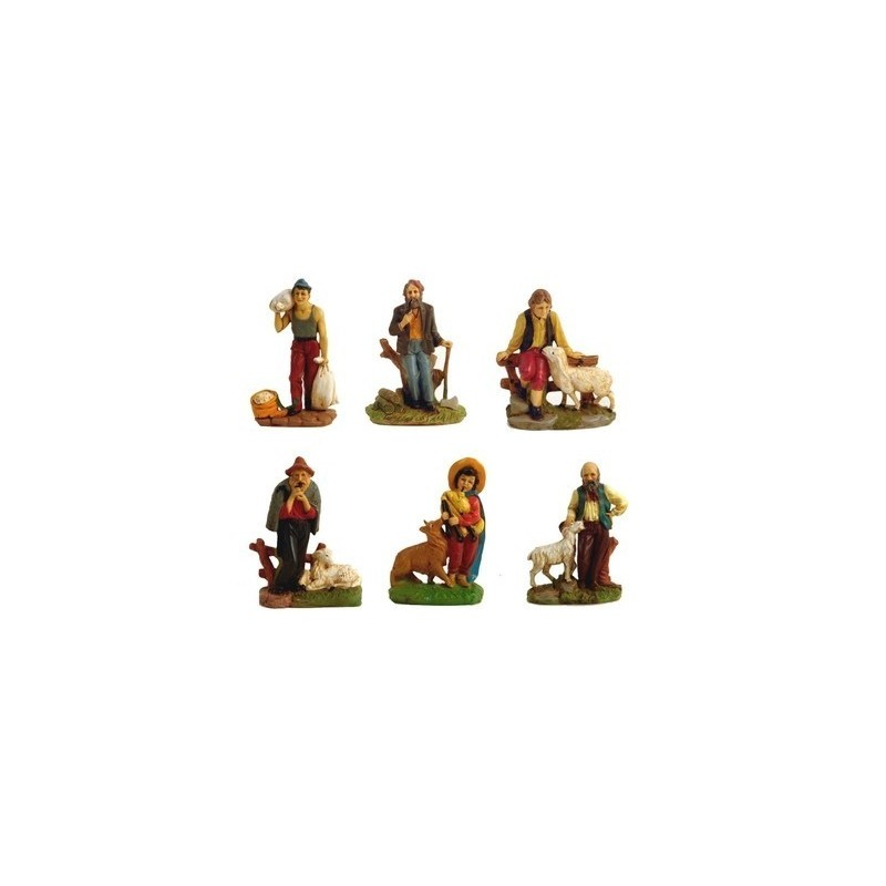 Set 6 pastori cm 10 - Cod. PD05 Mondo Presepi