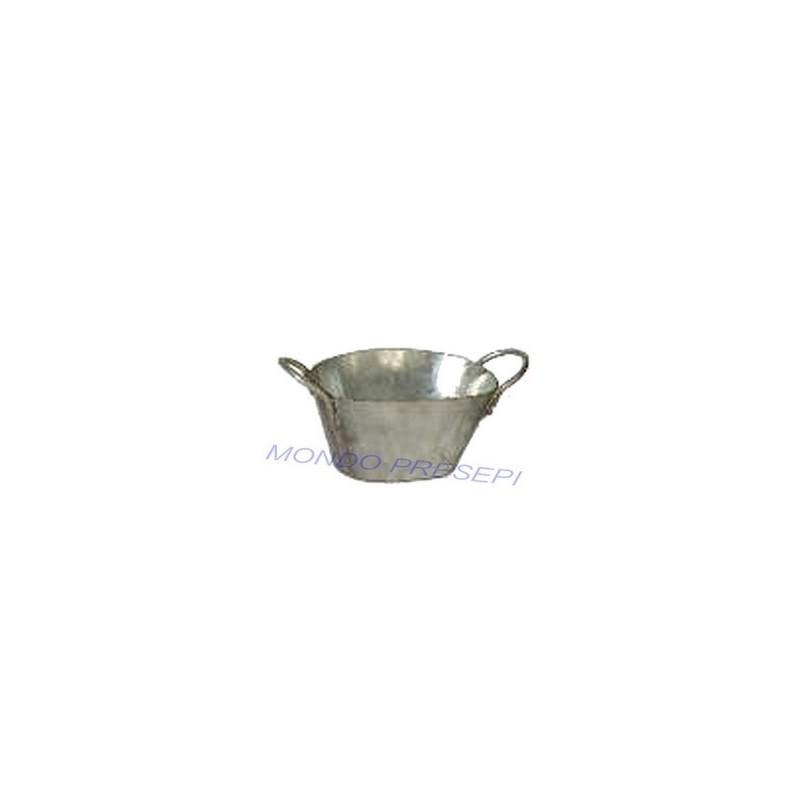 Oval tub 2.5 cm in metal