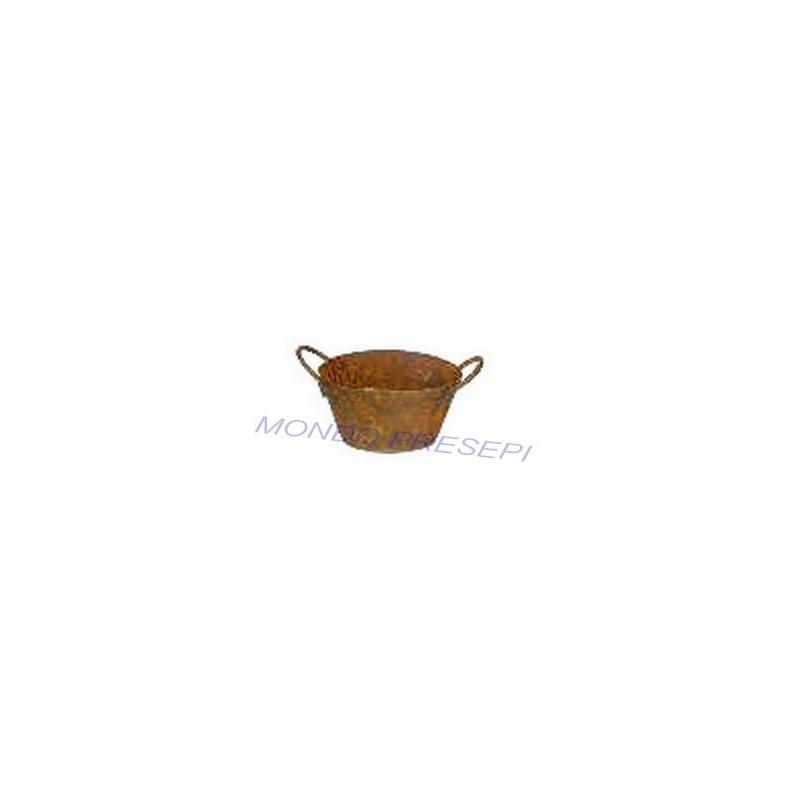 Mondo Presepi Tinozza ovale antichizzata cm 2,5