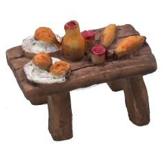 Tavolo bandito in resina effetto legno cm 5,2x3x4 h Mondo