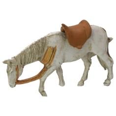 Cavallo bianco testa bassa cm 10,7x7 h Mondo Presepi