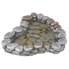 Laghetto in resina con acqua magica e pesci cm 12x11x2 h Mondo