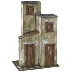 Casa a tre colonne cm 40x29x60,5 h per statue da 20 cm Mondo