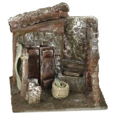 Courtyard with washhouse and arch 11.5x9x11 cm h for statues of