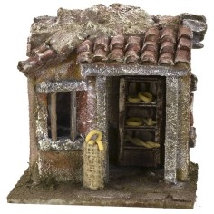 Bakery setting for Nativity scene 11.5x9x11 h for statues of 6