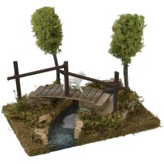 Modular pond with bridge cm 20x14,5x16,5 h for statues of 8-10