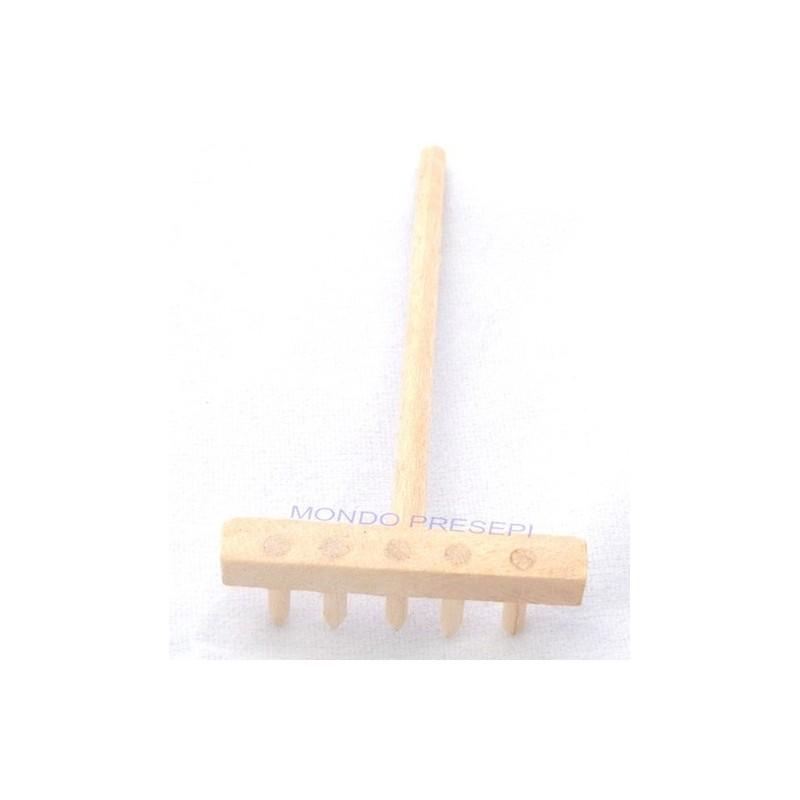Wooden rake 6 cm