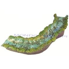 Mondo Presepi Fiume in resina - Curva destra cm 50