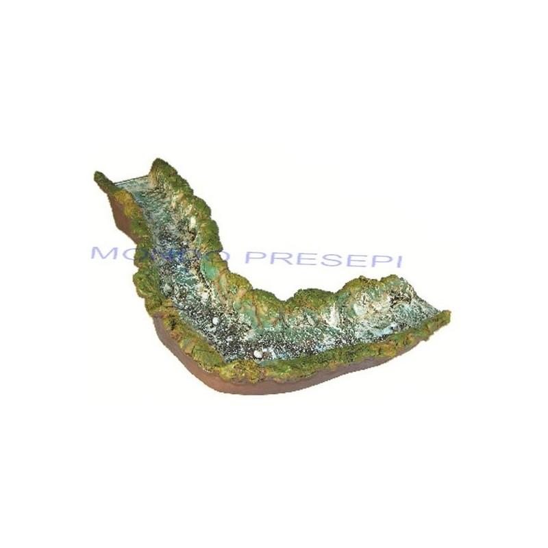 Fiume in resina - Curva sinistra cm 50 Mondo Presepi