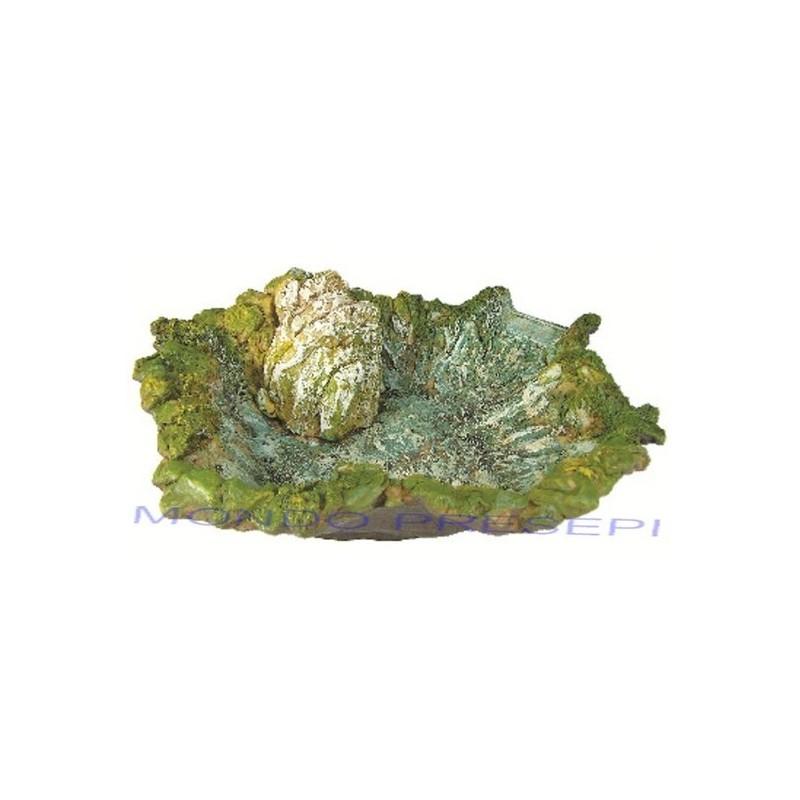 Fiume in resina lago cm 37 con pompa mondo presepi for Laghetto resina