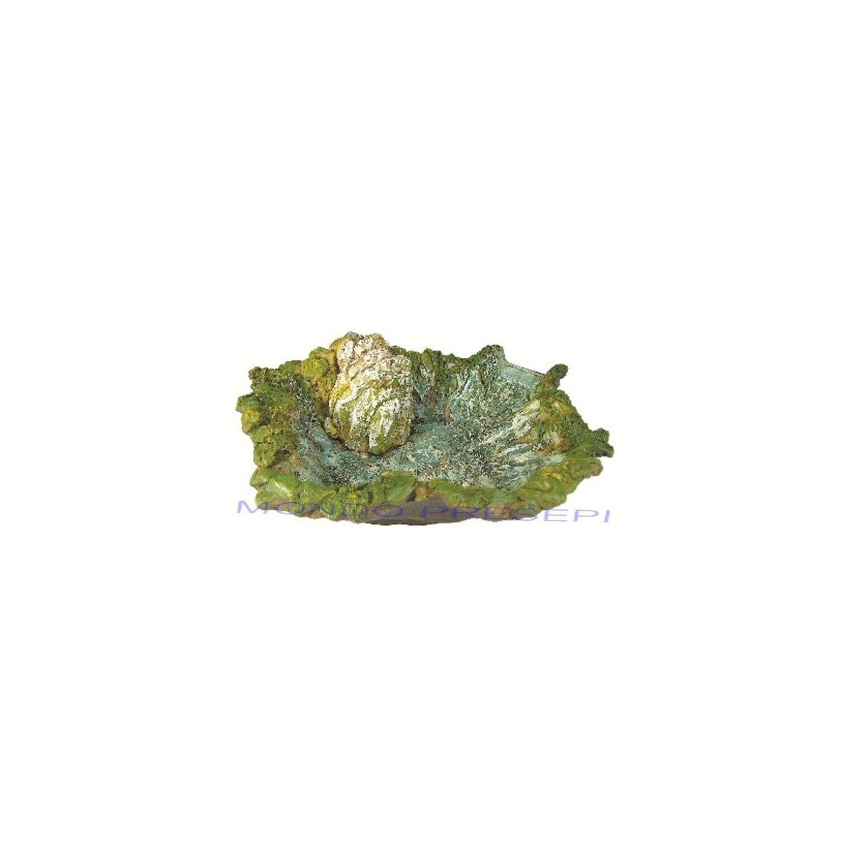 Fiume in resina lago cm 37 con pompa mondo presepi for Laghetto in resina