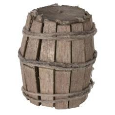 Botte in legno con doghe cm 4,1 h Mondo Presepi
