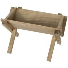 Mangiatoia in legno cm 10x6,5x6,2 h Mondo Presepi