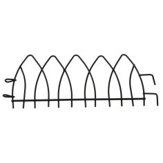 Anthracite metal railing with hooks cm 16.3x7 h