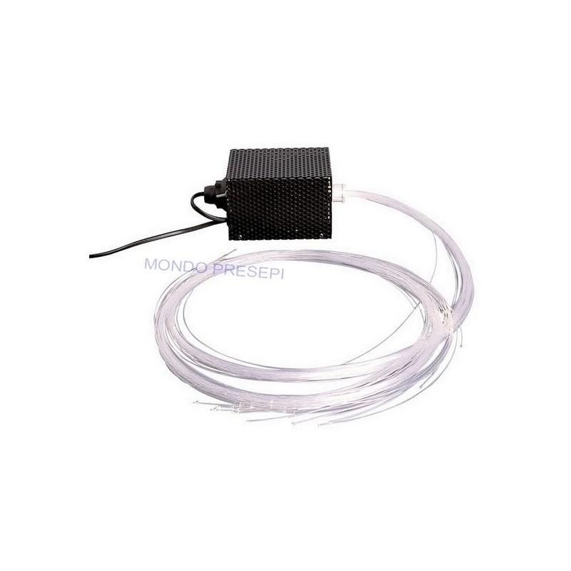 Illuminatore con fascio di fibre ottiche - stelle presepe - Cod. S1