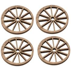 Busta 4 ruote in legno ø 4 cm Mondo Presepi