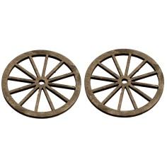 Busta 2 ruote in legno ø 6 cm Mondo Presepi