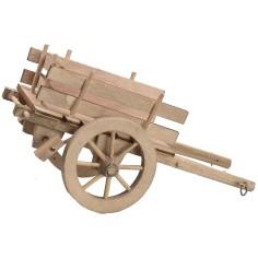Carretto in legno 12,5x7,3x6,2 h Mondo Presepi