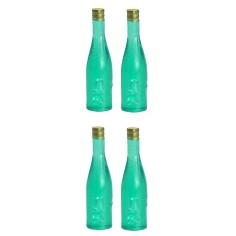 Set 4 bottiglie verdi cm 3,5 h Mondo Presepi