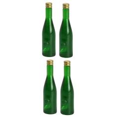 Set of 4 dark green bottles 3.6 cm h