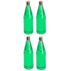 Set 4 bottiglie verde chiaro cm 3,4 h Mondo Presepi
