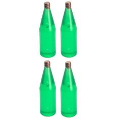 Set of 4 light green bottles cm 3,4 h