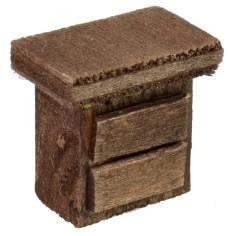 Comodino in legno cm 2,3x1,5x2,3 h. Mondo Presepi