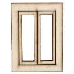 Finestra in legno con ante apribili cm 5,5x0,3x7,5 h Mondo