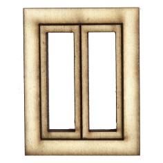 Finestra in legno con ante apribili cm 3,5x0,4x4,5 h Mondo