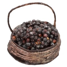Basket with black grapes ø 2.5 cm
