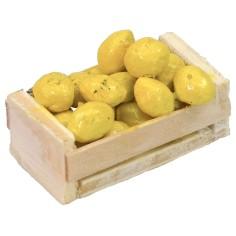 Cassetta in legno con limoni cm 3,7x2,1x1,4 h Mondo Presepi