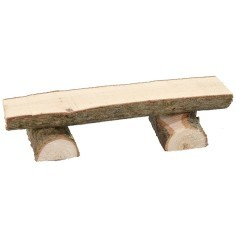 Bench made of logs 7.5x2.4x1.5 h