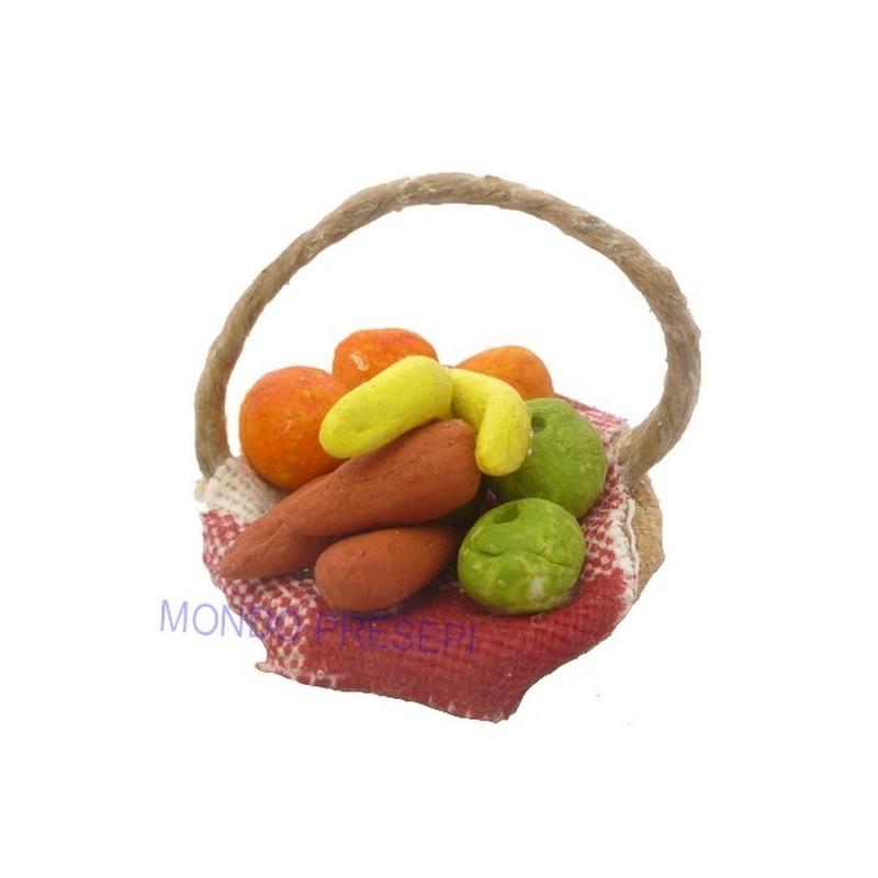 Basket ø cm 3 with mixed fruit