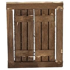 Finestra in legno con ante apribili cm 4,8x0,5x5,8 h Mondo
