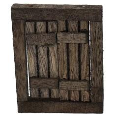 Dark wood window with opening doors cm 4,6x0,7x5,9 h