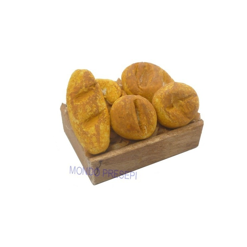 Cassetta con pane cm 3,5x2,5 Mondo Presepi